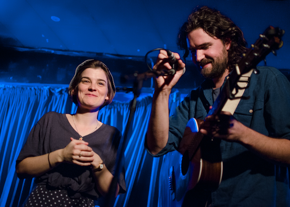 Lydia Cole and Luke Thompson